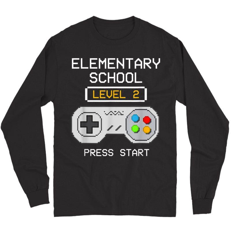 2nd Grade Gamer T-shirt Back To School Game Shirts Gift  Long Sleeve T-shirt