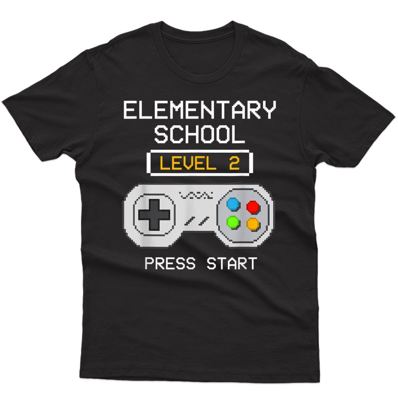 2nd Grade Gamer T-shirt Back To School Game Shirts Gift