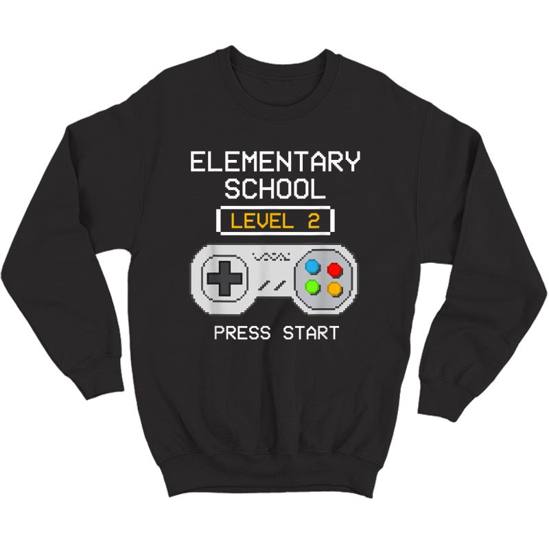 2nd Grade Gamer T-shirt Back To School Game Shirts Gift  Crewneck Sweater