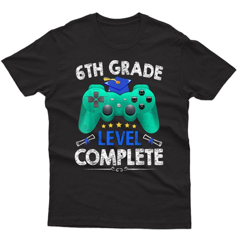 6th Grade Level Complete Tee Gamer Class Of 2021 Graduation T-shirt