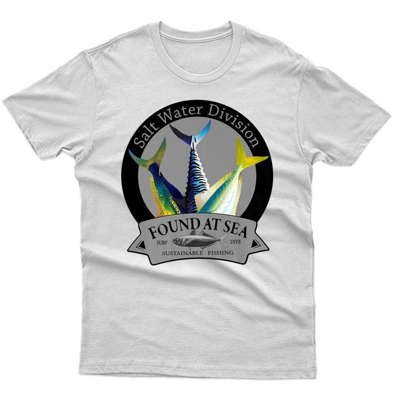 Assorted Ocean Fish Salt Water Fishing Style T-shirt
