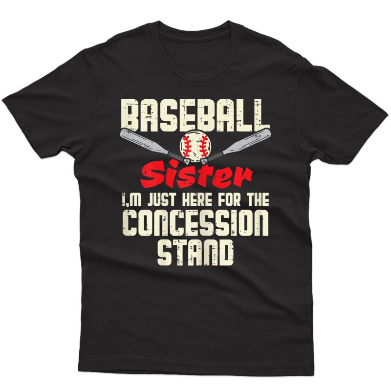 Baseball Sister Concession Stand Family Matching Girls T-shirt