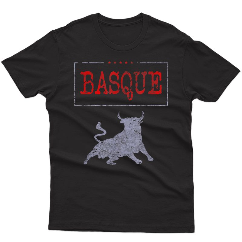 Basque Country Running Of The Bulls T-shirt