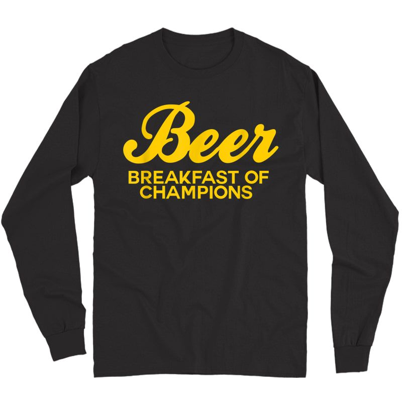Beer Breakfast Of Champions T-shirt Vintage Inspired Funny T-shirt Long Sleeve T-shirt