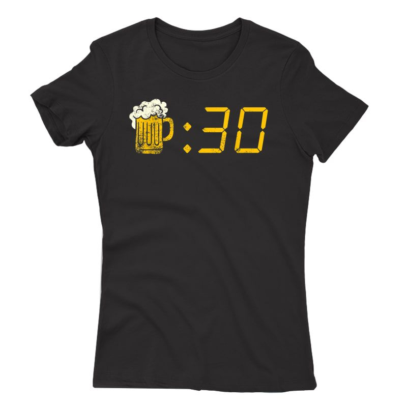 Beer Thirty T-shirt. Funny Drinking Or Getting Drunk Shirt