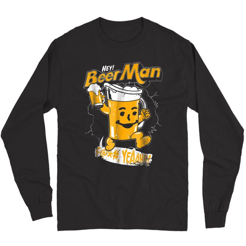 Beerman Funny Beer Lover Gift International Beer Day Shirt T-shirt Long Sleeve T-shirt