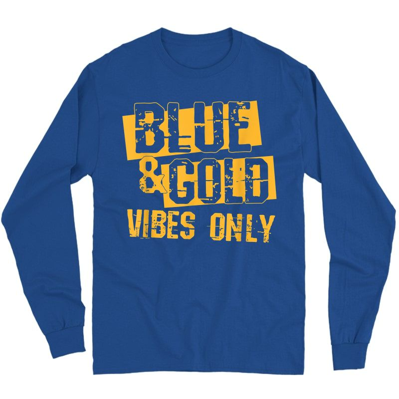 Blue And Gold Game Day Group Shirt For High School Football T-shirt Long Sleeve T-shirt