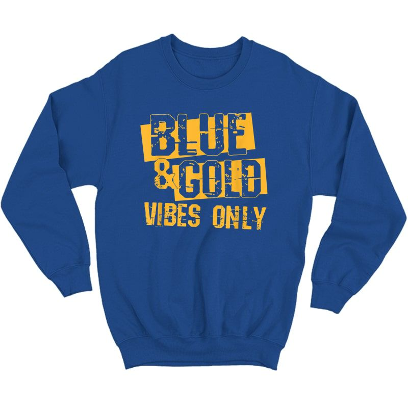 Blue And Gold Game Day Group Shirt For High School Football T-shirt Crewneck Sweater