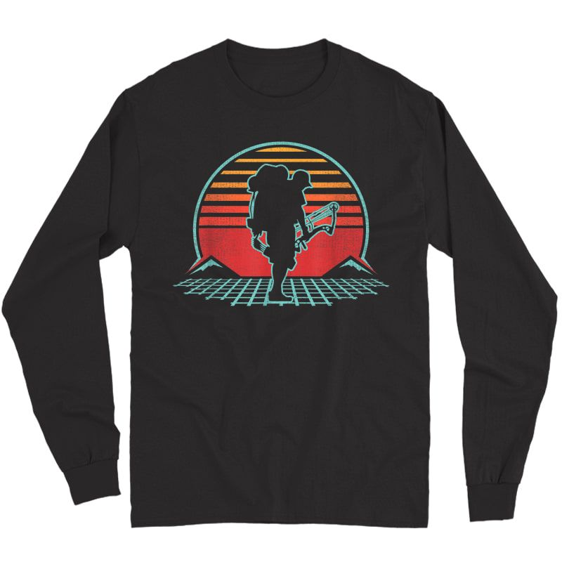 Bow Hunting Ary Retro Vintage 80s Style Gift T-shirt Long Sleeve T-shirt