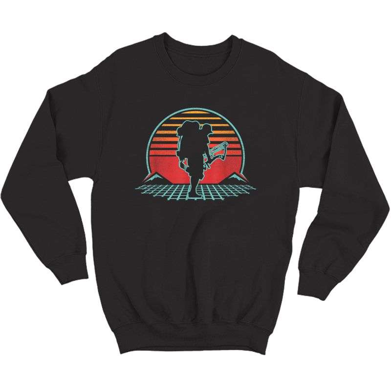 Bow Hunting Ary Retro Vintage 80s Style Gift T-shirt Crewneck Sweater