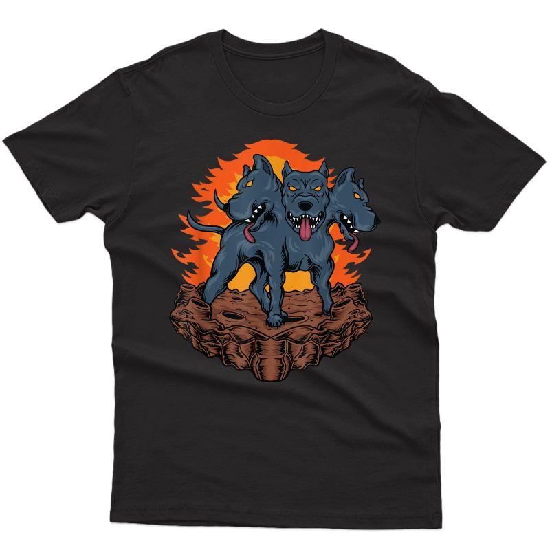 Cerberus Hellhound - Three Headed Dog T-shirt