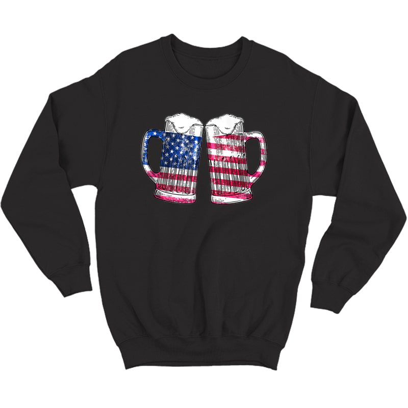 Cheers Beer American Flag 4th Of July Gift Beer Lover Tank Top Shirts Crewneck Sweater