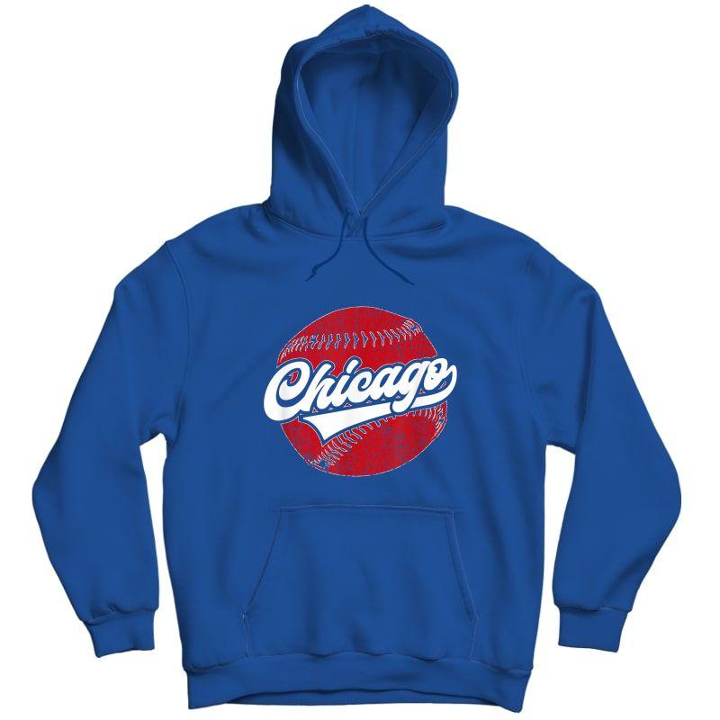 Chicago Baseball | Vintage Baseball Gift T-shirt Unisex Pullover Hoodie