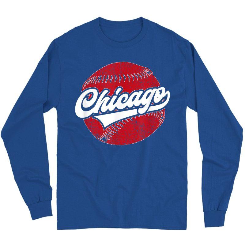 Chicago Baseball | Vintage Baseball Gift T-shirt Long Sleeve T-shirt