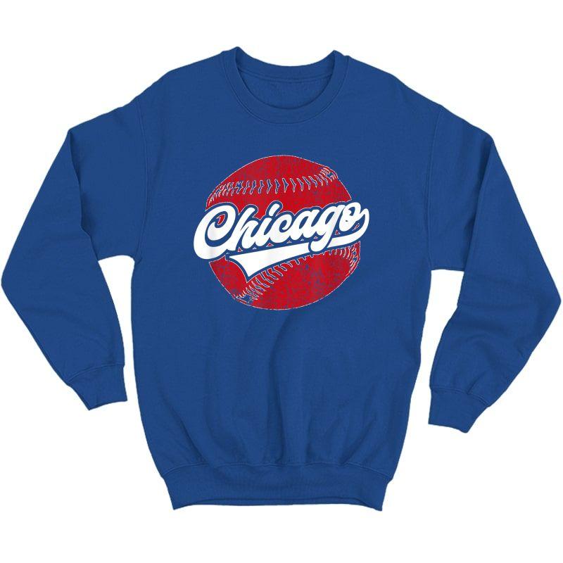 Chicago Baseball | Vintage Baseball Gift T-shirt Crewneck Sweater