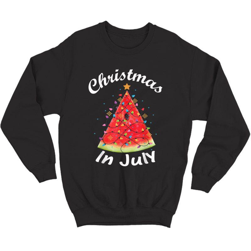 Christmas In July T-shirt Melon Christmas Tree Summer Shirt T-shirt Crewneck Sweater