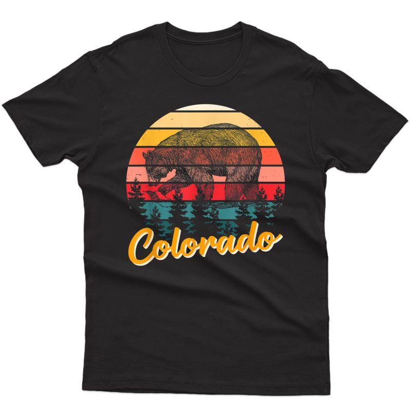 Colorado Bear Retro Pride Vacation Travel Tourist Gift T-shirt