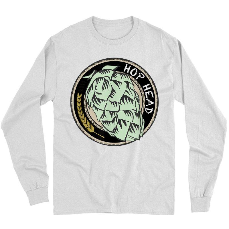 Cool Ipa Craft Beer Snob Novelty Hop Logo Print Brewing Logo T-shirt Long Sleeve T-shirt