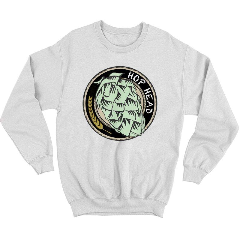 Cool Ipa Craft Beer Snob Novelty Hop Logo Print Brewing Logo T-shirt Crewneck Sweater