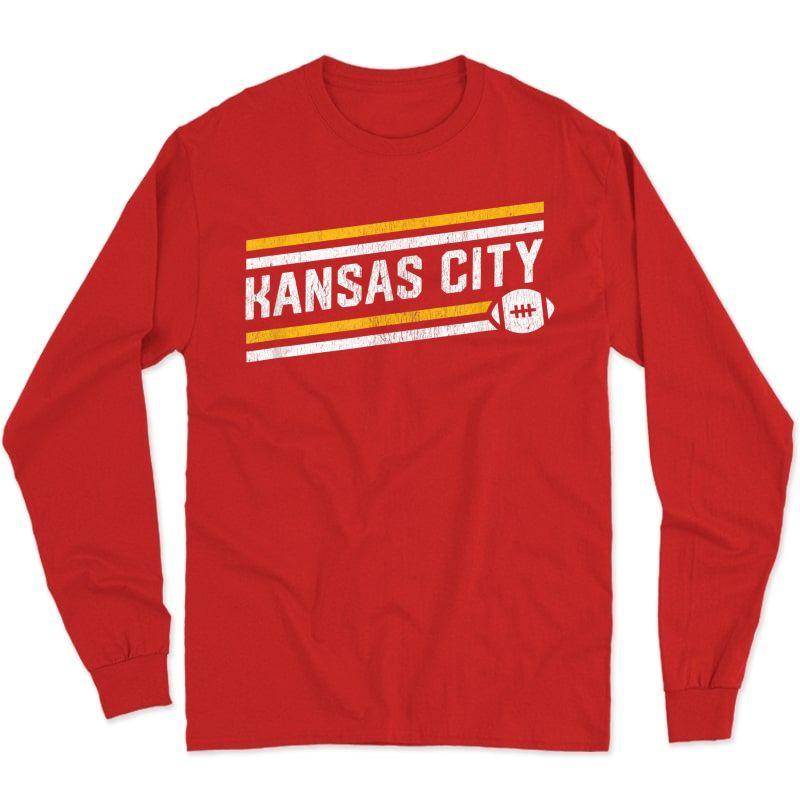 Cool Kansas City Football Touchdown T-shirt Long Sleeve T-shirt