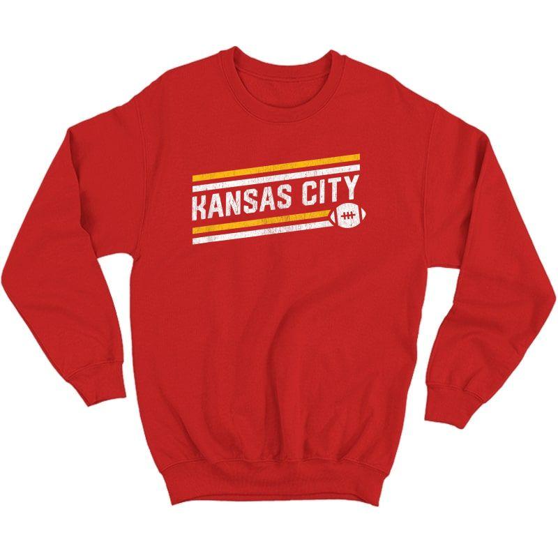 Cool Kansas City Football Touchdown T-shirt Crewneck Sweater