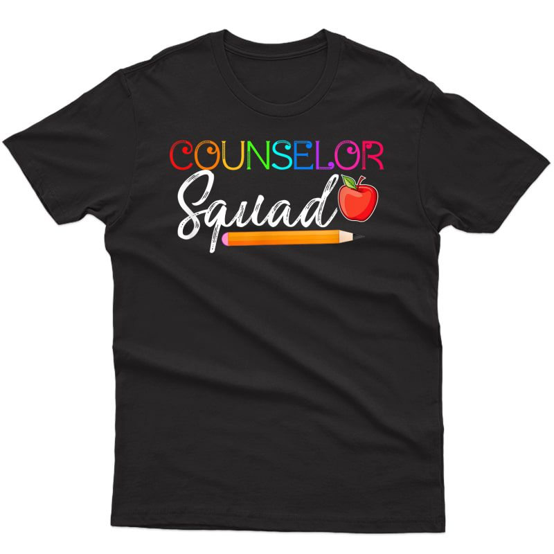 Counselor Squad Tea Back To School Shirt T-shirt