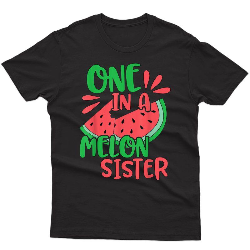 Cute One In A Melon Sister Watermelon T-shirt