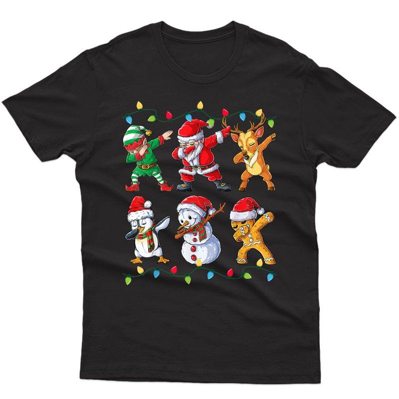Dabbing Santa Elf Friends Christmas Xmas Gifts T-shirt
