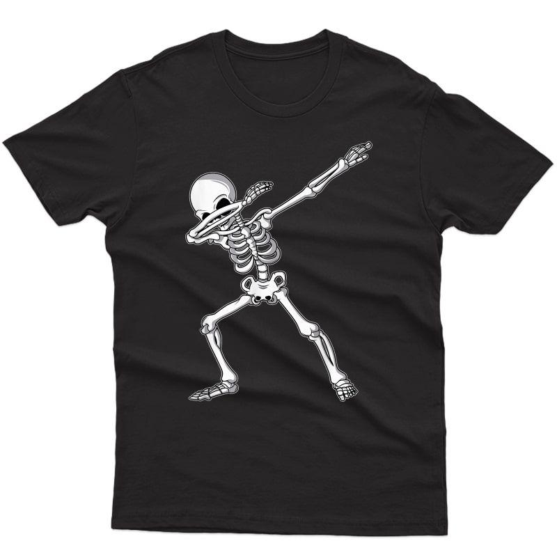 Dabbing Skeleton Shirt Adult Dab Funny Halloween T-shirt