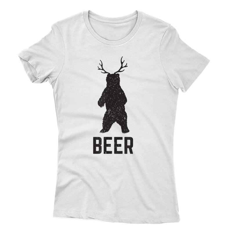 Deer Antlers Bear Beer T-shirt - Funny Craft Beer Shirt