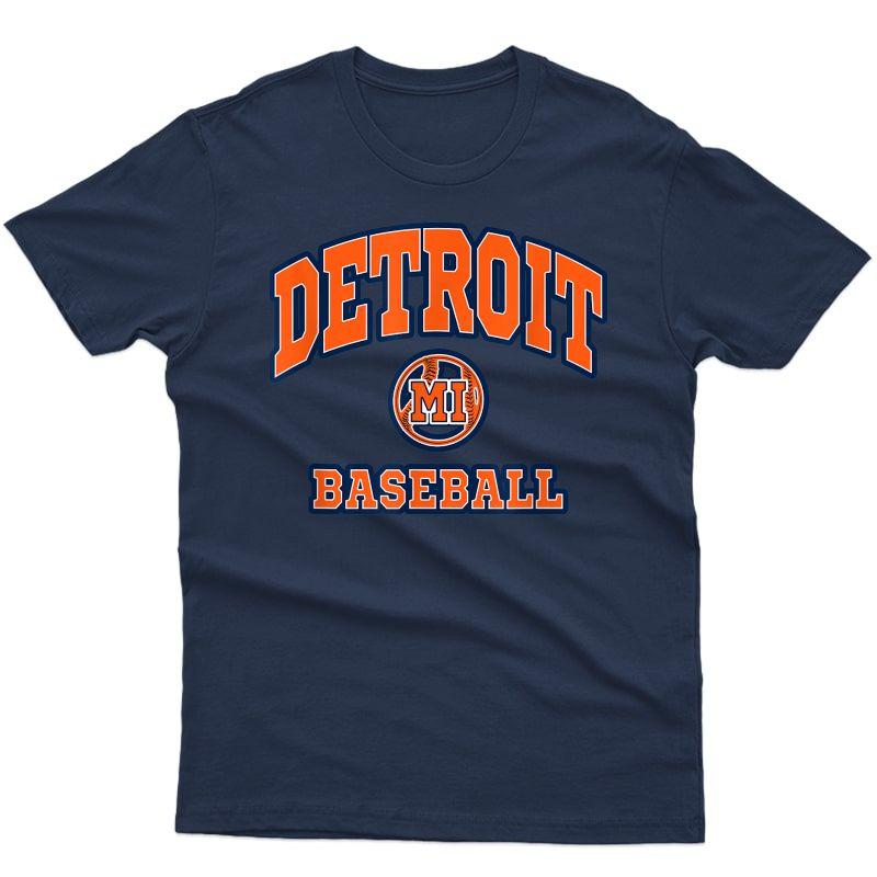 Detroit Baseball Hometown Pride Michigan - Baseball T-shirt