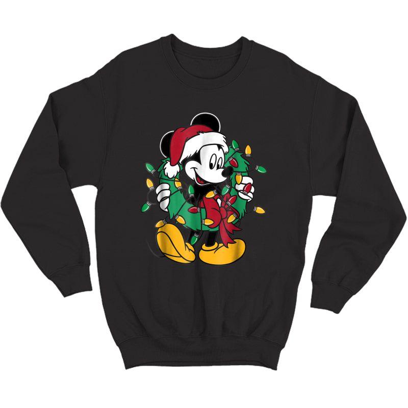 Disney Mickey Mouse Christmas Lights T-shirt Crewneck Sweater