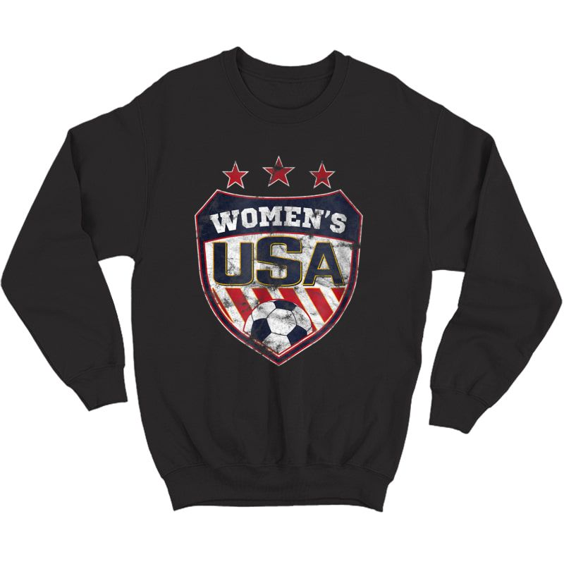 Distressed Soccer T-shirt For With Usa Shield Crewneck Sweater