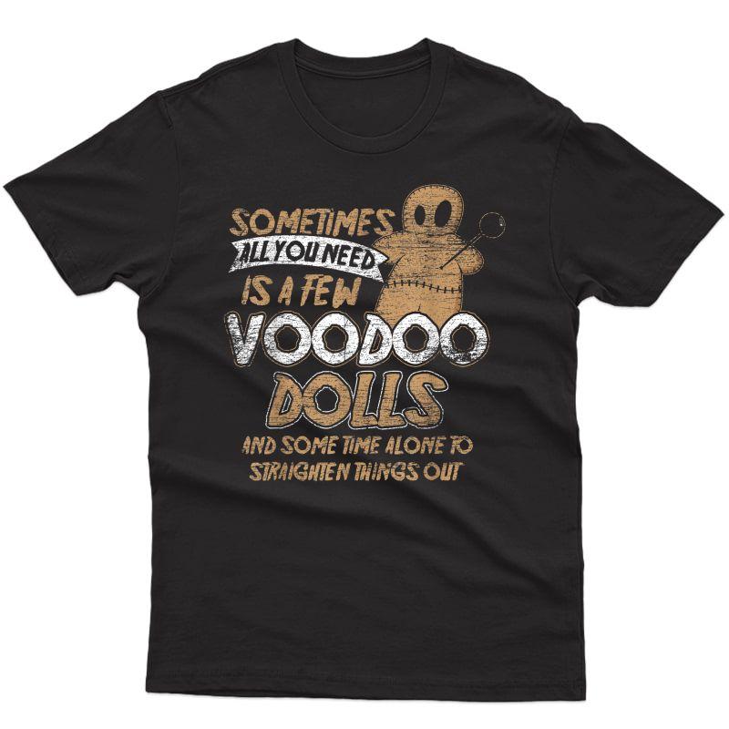 Doll Costume Gift Scary Karma Voodoo Halloween T-shirt
