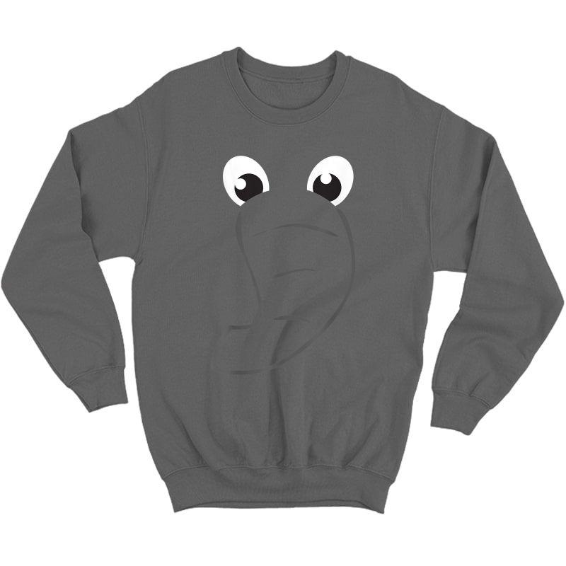 Elephant Face Shirt Cute Halloween Costume Animal Gift Crewneck Sweater