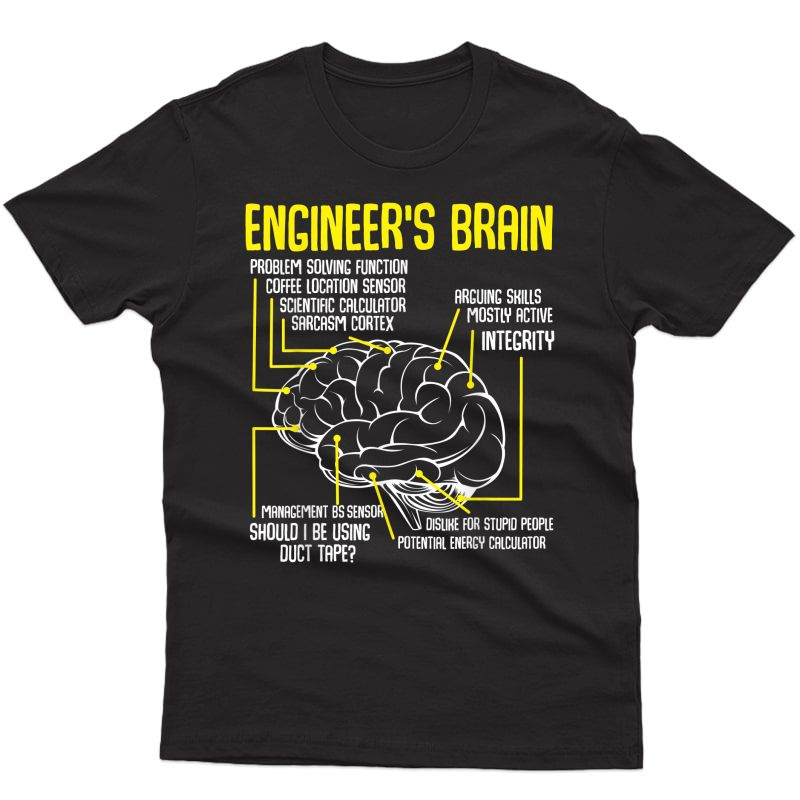 Engineer's Brain Funny Engineering Games Process Funny T-shirt