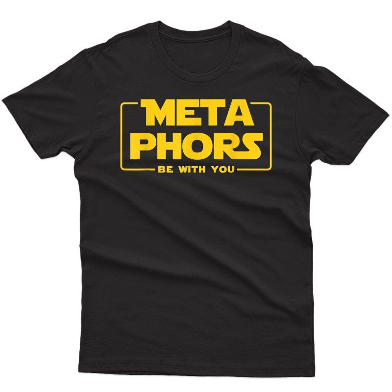 English Tea Tshirts Metaphors Be With You Geek Gift T-shirt