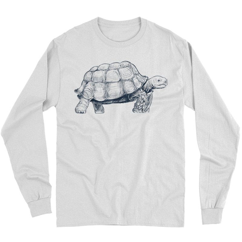 Fast Turtle Running Shirt Long Sleeve T-shirt