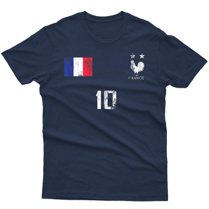 France Soccer Style Team Flag French T-shirt