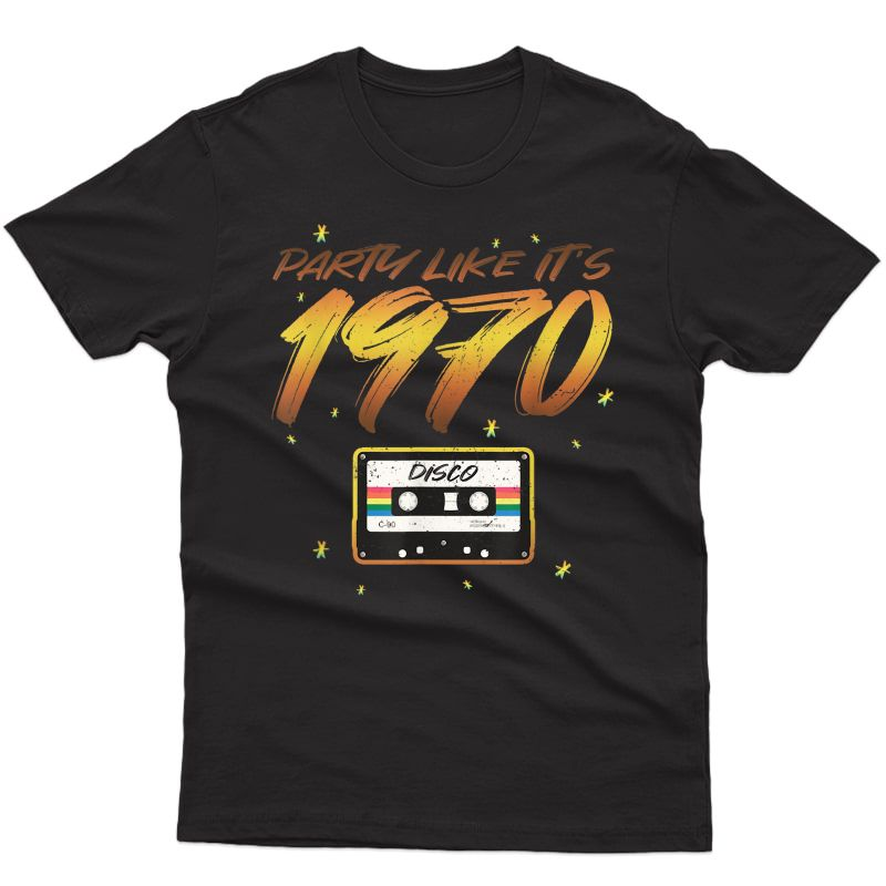 Funny 70's Disco Party - Retro Seventies Halloween Costume T-shirt
