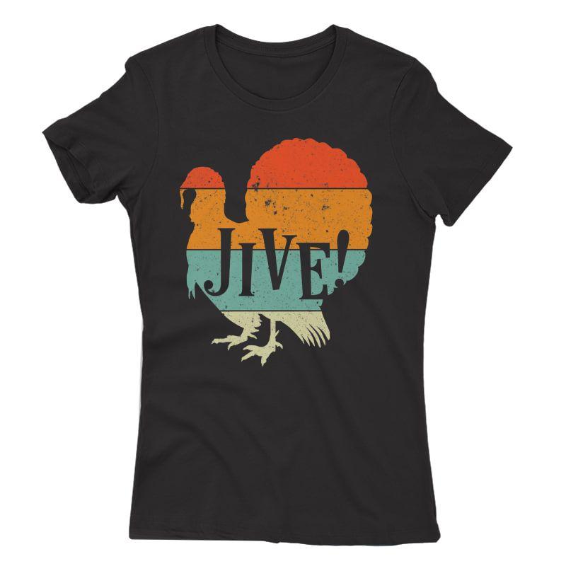 Funny Jive Thanksgiving Turkey Day Retro Color Gift Premium T-shirt