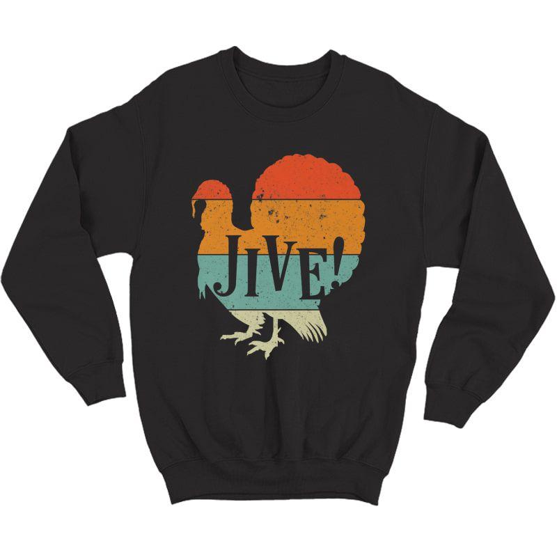 Funny Jive Thanksgiving Turkey Day Retro Color Gift Premium T-shirt Crewneck Sweater