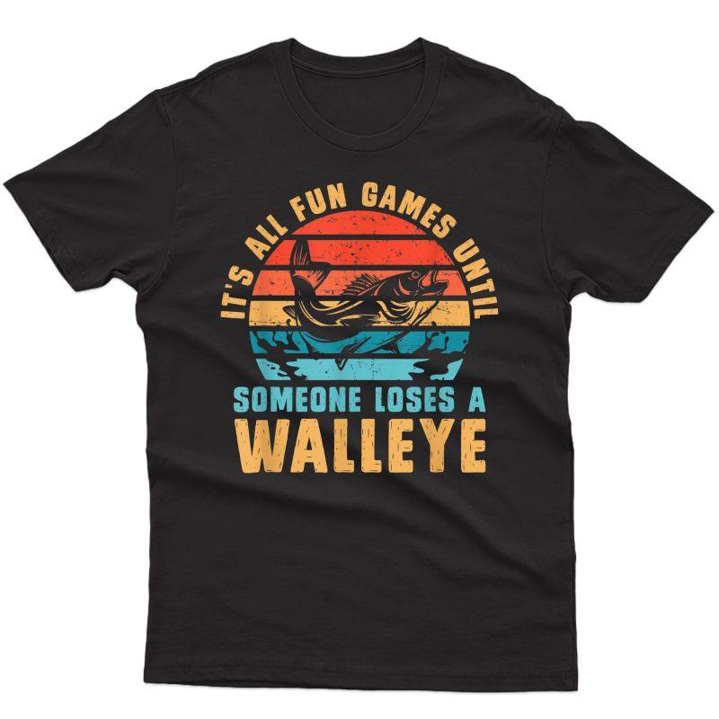 Funny Walleye Fishing T-shirt