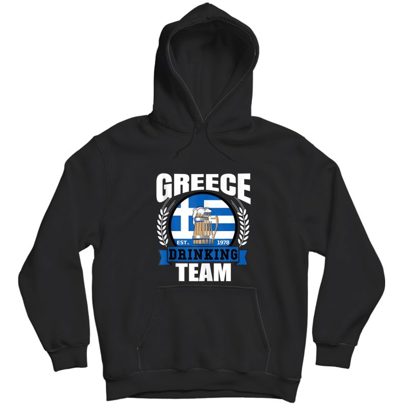 Greece Drinking Team Greek Flag Beer Party Grecian Gift Tank Top Shirts Unisex Pullover Hoodie
