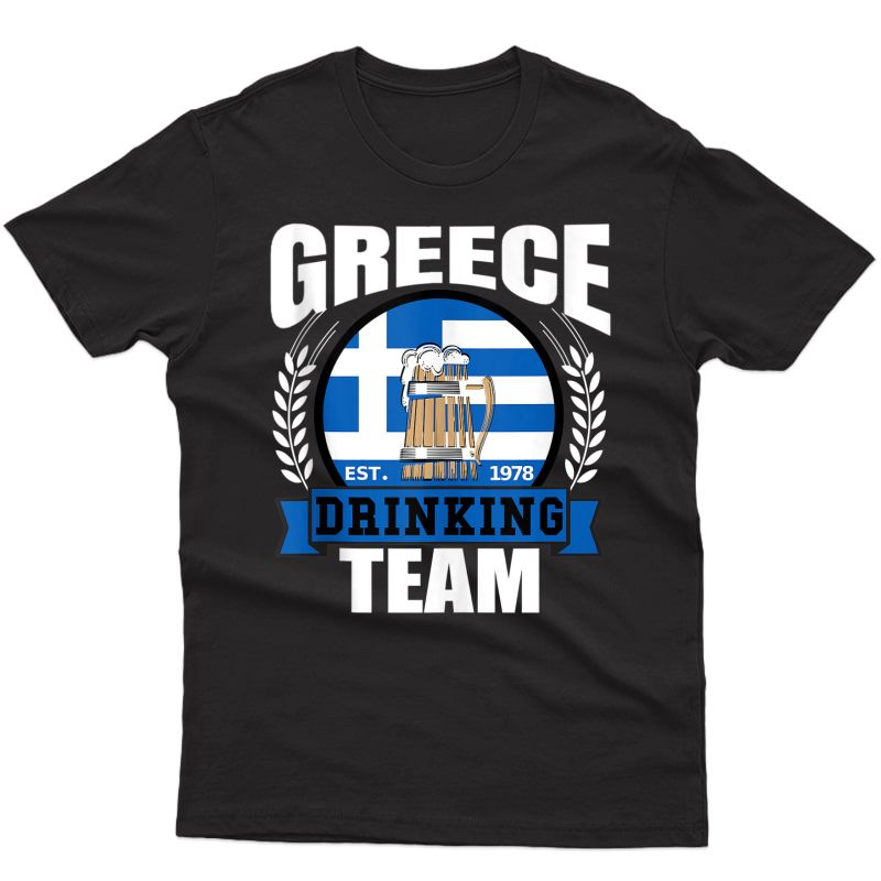 Greece Drinking Team Greek Flag Beer Party Grecian Gift Tank Top Shirts