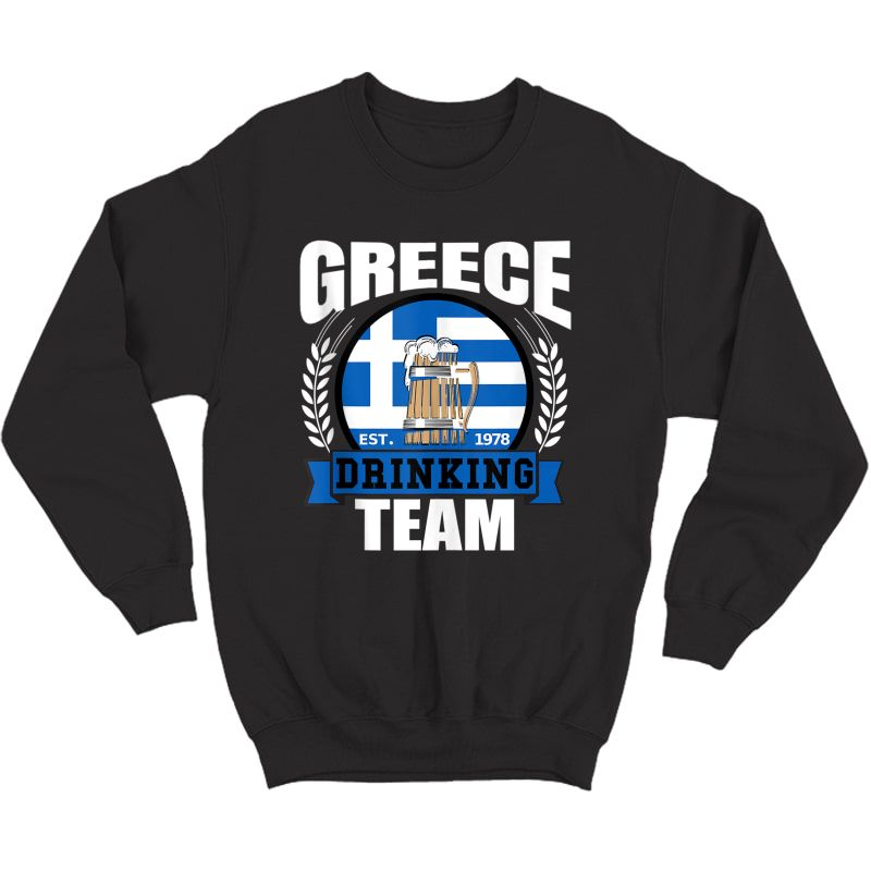 Greece Drinking Team Greek Flag Beer Party Grecian Gift Tank Top Shirts Crewneck Sweater