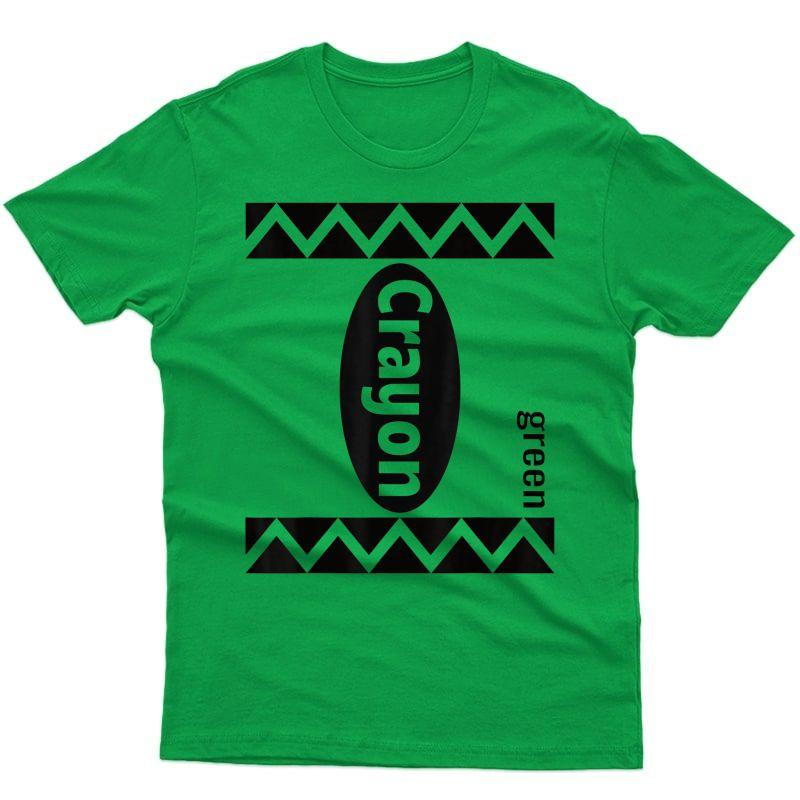 Green Crayon Box Halloween Costume Couple Group Adults T-shirt