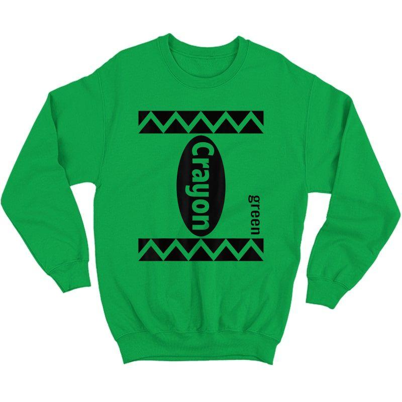 Green Crayon Box Halloween Costume Couple Group Adults T-shirt Crewneck Sweater
