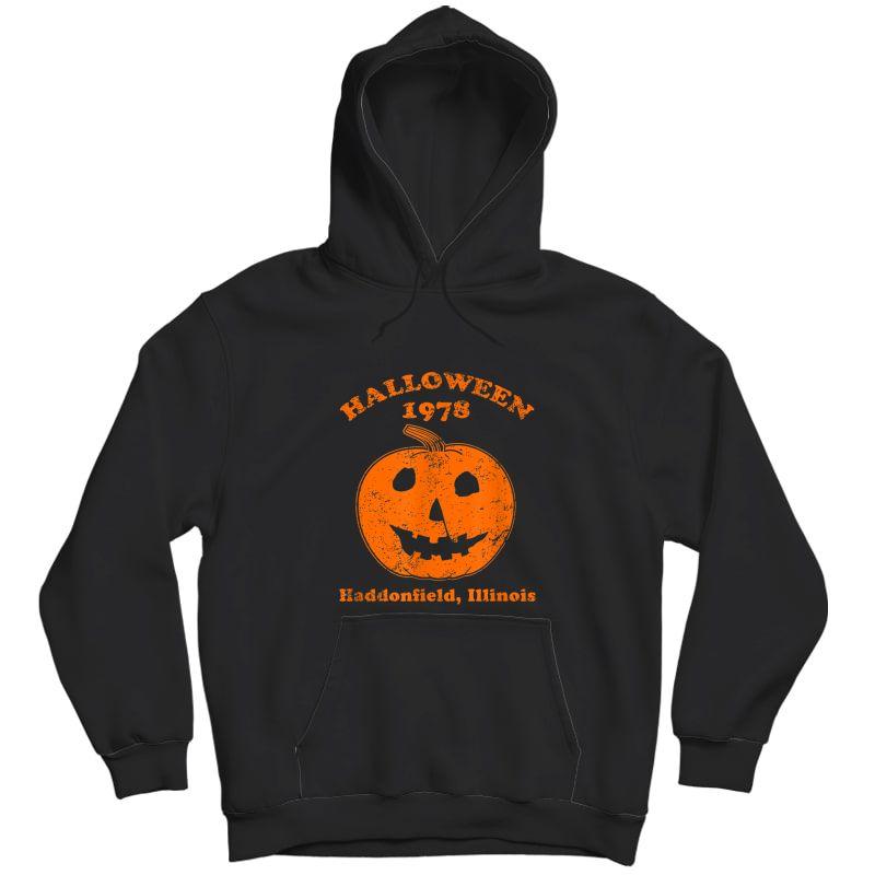 Halloween 1978 Holiday Spooky Gift Myers Pumpkin Haddonfield T-shirt Unisex Pullover Hoodie