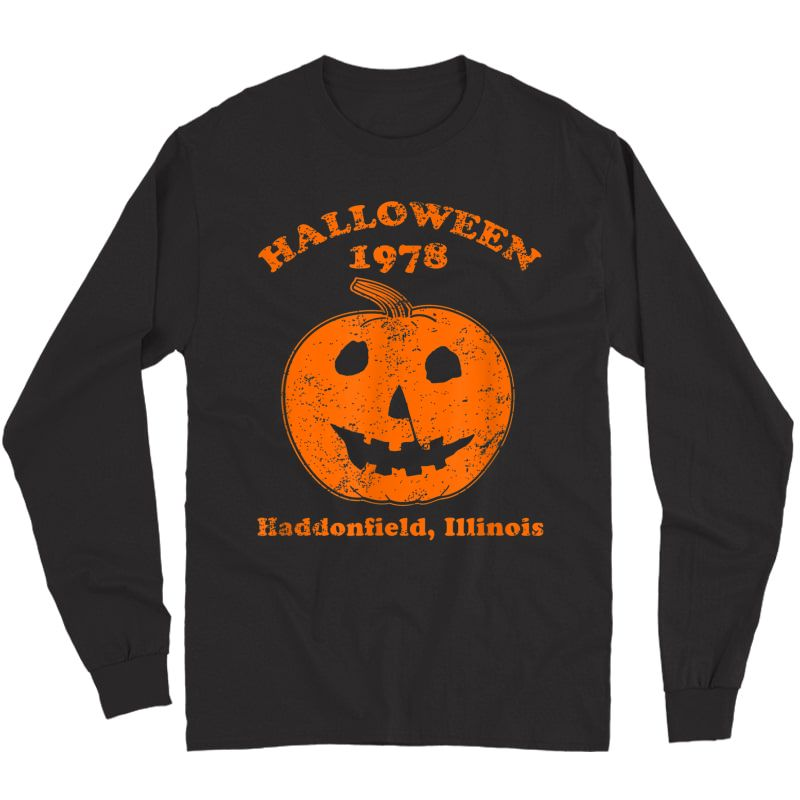 Halloween 1978 Holiday Spooky Gift Myers Pumpkin Haddonfield T-shirt Long Sleeve T-shirt